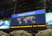 Passport control.