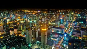 Bangkok di notte. Foto di Mathias Krumbholz.