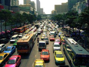 Traffico a Siam Square. Foto di ThomasSD.