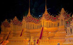 Wax Castle Parade. Sakhon Nakhon.