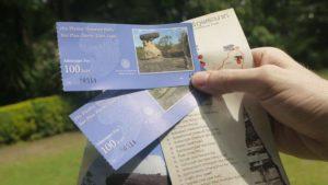 Biglietti d'ingresso al parco di Phu Phra Bat.