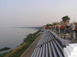 Vista sul Mekong River. Foto di Jamrat.