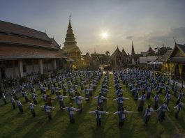 Wat Phra That Hariphunchai Woramaha Wihan, Mueang Lamphun. Foto di Korkiat Jumpa.