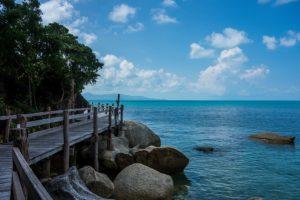 Spiaggia a Koh Pangan. Foto di Visions of Domino.