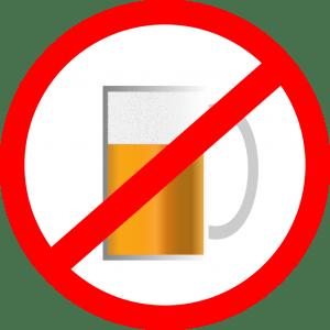 Vietato consumare alcolici.