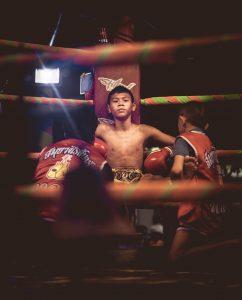 Lottatore di Muay Thai.