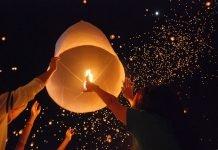 Loy Krathong chiang mai 8.600 lanterne