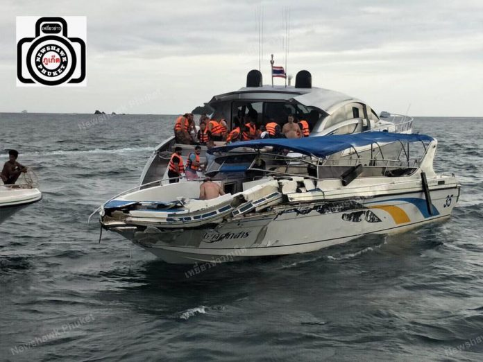 Incidente in barca vicino a Koh Kai al largo di Phuket