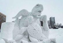 Thailandia vince il concorso delle sculture di neve